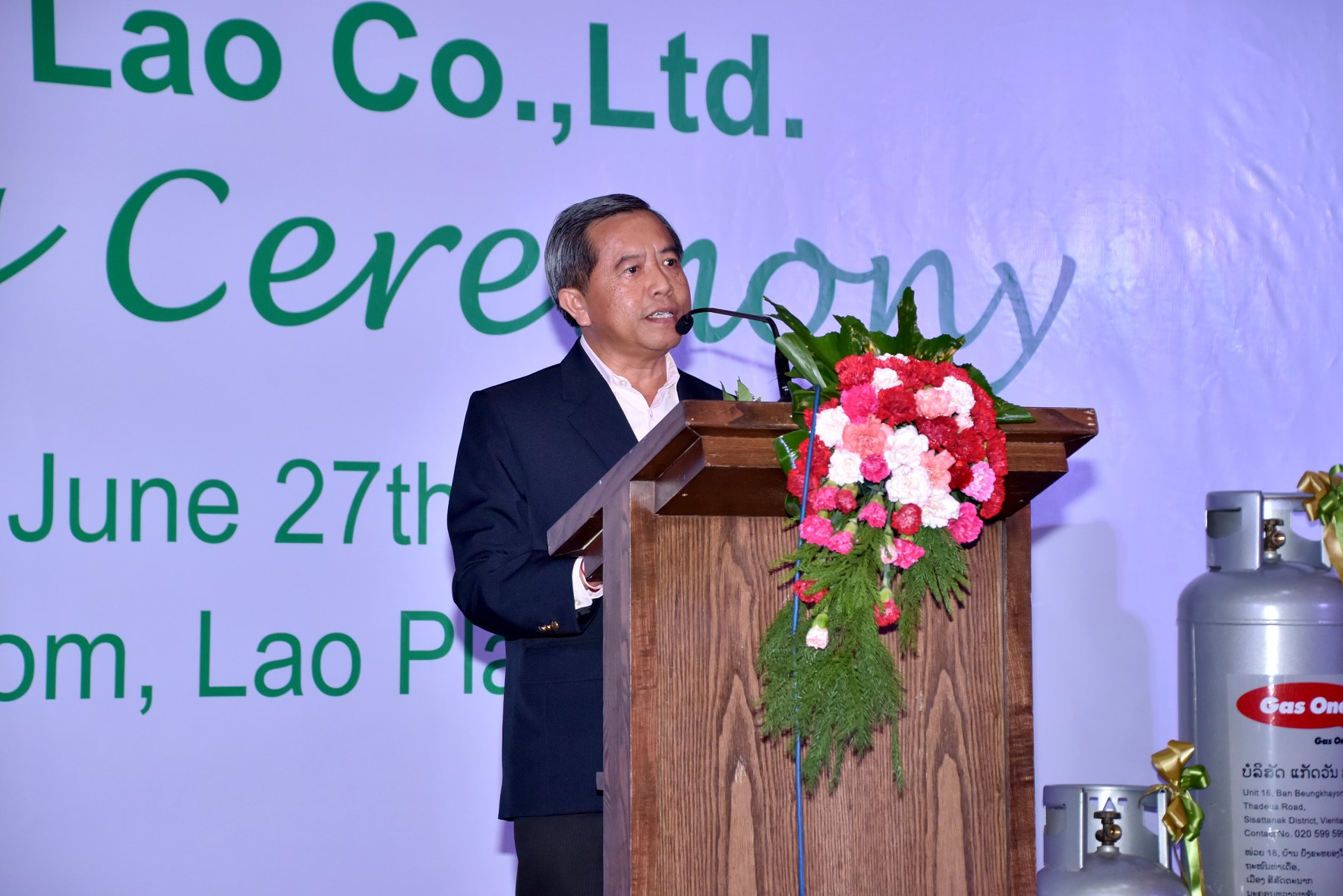 H.E. Prof. Dr. Boviengkham Vongdara, Minister of Science and Technology had a speech